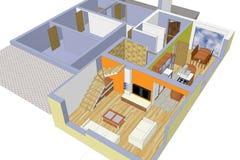 Σχεδιασμός ενός σπιτιού στοκ φωτογραφία
