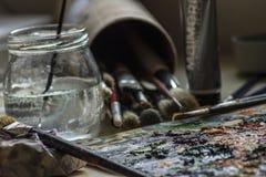 Σχεδιασμός με τα ακρυλικά χρώματα Στοκ εικόνες με δικαίωμα ελεύθερης χρήσης