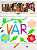 Σχεδιασμός: Νορβηγική άνοιξη VÃ¥r λέξεων Στοκ Εικόνα