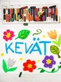 Σχεδιασμός: Φινλανδική άνοιξη Kevät λέξης Στοκ εικόνα με δικαίωμα ελεύθερης χρήσης