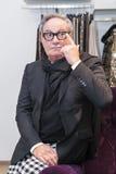 Σχεδιαστής μόδας Rocco Barocco την ημέρα έναρξης του πρώτου καταστήματος μονο-εμπορικών σημάτων στη Ρωσία Στοκ Φωτογραφία