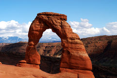 σχηματίστε αψίδα το λεπτό εθνικό πάρκο Utah αψίδων Στοκ φωτογραφίες με δικαίωμα ελεύθερης χρήσης