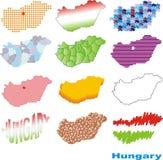 σχηματική αναπαράσταση της Ουγγαρίας Στοκ Φωτογραφία