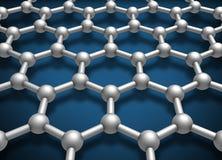 Σχηματικό πρότυπο δομών στρώματος Graphene απεικόνιση αποθεμάτων