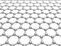 Σχηματικό τρισδιάστατο πρότυπο δομών στρώματος Graphene Στοκ φωτογραφία με δικαίωμα ελεύθερης χρήσης