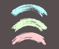 Σχηματισμένα αψίδα κτυπήματα βουρτσών, ζωηρόχρωμα στα χρώματα κρητιδογραφιών Στοκ εικόνα με δικαίωμα ελεύθερης χρήσης