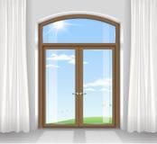 Σχηματισμένες αψίδα διπλές πόρτες Στοκ Φωτογραφία
