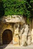 Σχηματισμένη αψίδα αρχαία ξύλινη πόρτα Στοκ Φωτογραφίες