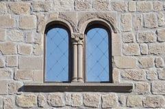 Σχηματισμένο αψίδα διπλάσιο παράθυρο Στοκ Εικόνα