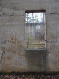 Σχηματισμένο αψίδα παράθυρο σε ένα παράθυρο Στοκ Εικόνες