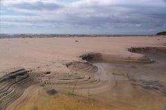 Σχηματισμοί άμμου στην παραλία στοκ εικόνες με δικαίωμα ελεύθερης χρήσης