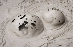 Σχηματισμοί λάσπης Στοκ εικόνες με δικαίωμα ελεύθερης χρήσης