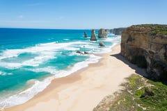 12 σχηματισμοί απότομων βράχων αποστόλων, μεγάλος ωκεάνιος δρόμος, Βικτώρια, Αυστραλία Στοκ Εικόνα