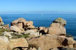 Σχηματισμοί βράχου γρανίτη σε Ploumanach Στοκ φωτογραφίες με δικαίωμα ελεύθερης χρήσης