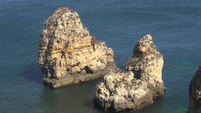 Σχηματισμοί βράχου νερού απόθεμα βίντεο
