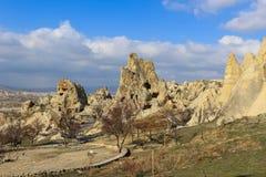 Σχηματισμοί βράχου σε Cappadocia, Ανατολία, Τουρκία στοκ εικόνα με δικαίωμα ελεύθερης χρήσης
