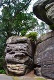 Σχηματισμοί βράχου στους υψηλούς βράχους, φρεάτια Tunbridge, Κεντ, UK Στοκ Φωτογραφία