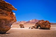 Σχηματισμοί βράχου Arbol Piedra σε Altiplano Στοκ φωτογραφία με δικαίωμα ελεύθερης χρήσης