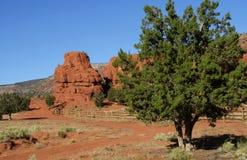 Σχηματισμοί βράχου, Jemez Pueblo στοκ φωτογραφίες