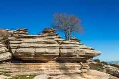 Σχηματισμοί βράχου Torcal de Antequera Στοκ Εικόνες