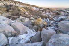 Σχηματισμοί διάβρωσης στο ορυχείο χρωμάτων Στοκ Φωτογραφίες