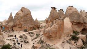 Σχηματισμοί πετρών ηφαιστειακών τεφρών απόθεμα βίντεο