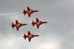 Σχηματισμός αεριωθούμενων αεροπλάνων Στοκ φωτογραφία με δικαίωμα ελεύθερης χρήσης