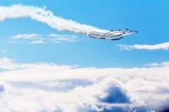 Σχηματισμός αεριωθούμενων αεροπλάνων στοκ φωτογραφία