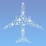 σχηματισμός αεροπλάνων Στοκ Εικόνες