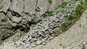 Σχηματισμός βασαλτών στηλών του ακρωτηρίου Stolbchaty σε Kunashir, kuril νησιά, Ρωσία στοκ εικόνες