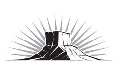 Σχηματισμός βράχου Γιούτα Στοκ φωτογραφία με δικαίωμα ελεύθερης χρήσης