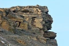 Σχηματισμός βράχου που διαμορφώνεται όπως ένα κεφάλι Στοκ Εικόνες