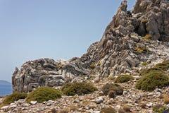Σχηματισμός βράχου των επιβαρύνσεων Pavlos Στοκ εικόνα με δικαίωμα ελεύθερης χρήσης