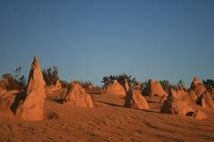 Σχηματισμός βράχων πυραμίδων Στοκ φωτογραφίες με δικαίωμα ελεύθερης χρήσης
