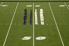 σχηματισμός ποδοσφαίρου σκακιού Στοκ Εικόνες