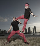 σχηματισμός breakdancers στοκ φωτογραφία με δικαίωμα ελεύθερης χρήσης