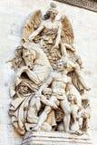 Σχηματοποιήσεις στο τόξο de Triomphe. Παρίσι. Γαλλία. Στοκ φωτογραφία με δικαίωμα ελεύθερης χρήσης