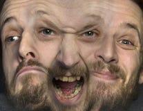 Σχιζοφρένια - πολλαπλάσια προσωπικότητα Στοκ Φωτογραφία