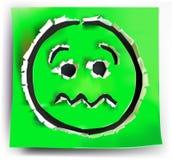 Σχισμένα fritning χαμόγελα συλλογής εγγράφου απεικόνιση αποθεμάτων