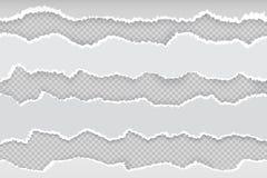 Σχισμένη σελίδα εγγράφου Οι οριζόντιες σχισμένες λουρίδες εφημερίδων ελεύθερη απεικόνιση δικαιώματος