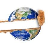 Σχισμένος πλανήτης Γη στο άσπρο υπόβαθρο στοκ φωτογραφία με δικαίωμα ελεύθερης χρήσης