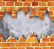 σχισμένος τούβλο τοίχος Στοκ Φωτογραφία