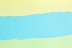 Σχισμένο έγγραφο, έγγραφο χρώματος δακρυ'ων με το διάστημα για το κείμενο Στοκ Φωτογραφίες