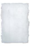 σχισμένο έγγραφο λευκό Στοκ Φωτογραφία