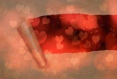 Σχισμένο έγγραφο με τις καρδιές Στοκ εικόνα με δικαίωμα ελεύθερης χρήσης