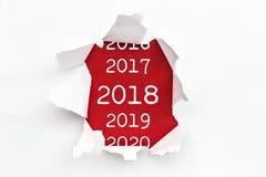 Σχισμένο έγγραφο 2018 στοκ φωτογραφία