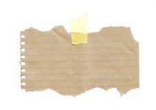 Σχισμένο έγγραφο Στοκ Εικόνα