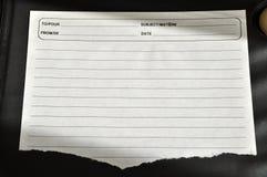 Σχισμένο έγγραφο Στοκ εικόνα με δικαίωμα ελεύθερης χρήσης