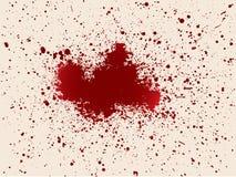 Σχισμένο αίμα Στοκ εικόνα με δικαίωμα ελεύθερης χρήσης