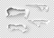 Σχισμένο σχισμένο διανυσματικό πρότυπο εγγράφου, πλευρές με τις σχισμένες άκρες στοκ εικόνες